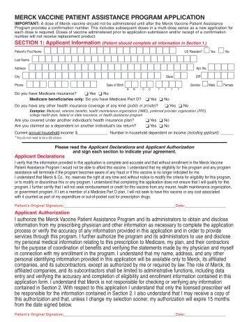 merck prescription discount program patient application form - Januvia