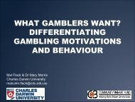 WHAT GAMBLERS WANT? DIFFERENTIATING GAMBLING ...