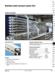 Stainless steel conveyor system XLX - FlexLink