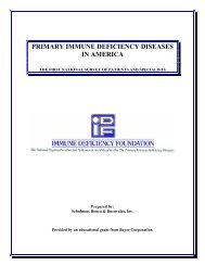 Primary Immune Deficiency Diseases in America: The First National ...