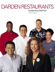 Annual Report 2004 - Investor Relations - Darden Restaurants