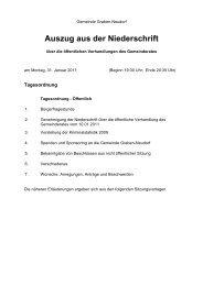 Auszug aus der Niederschrift - Gemeinde Graben-Neudorf