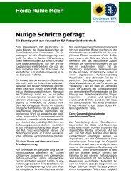 Info-Papier zur deutschen EU-Ratspräsidentschaft - Heide Rühle