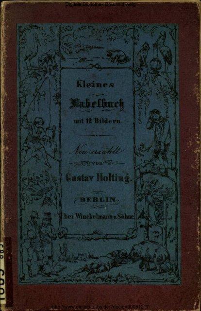 Kleines Fabelbuch mit 12 Bildern - Digitale Bibliothek Braunschweig