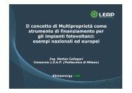 Klimaenergy - 09_ Callegari - LEAP - Politecnico di Milano