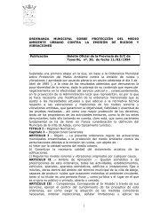 ordenanza municipal sobre protección del medio ambiente urbano ...