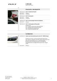 C W/S 204 Karosserie / Aerodynamik Lichttechnik - ART tuning gmbh