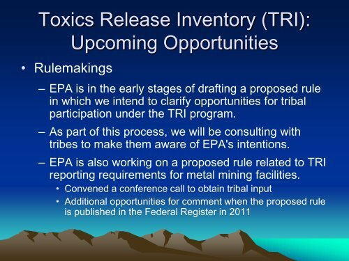 TRI Program Introduction and Basics - ChemicalRight2Know