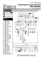 4 Hp/Straight Line/Rear Exhaust Die Grinder - Dynabrade Inc.