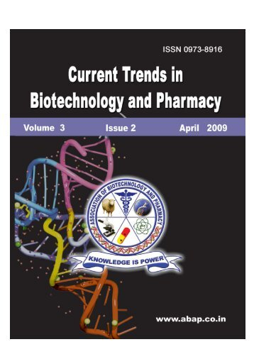 April Journal-2009.p65 - Association of Biotechnology and Pharmacy