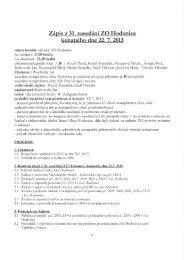 Zápis Z 31. zasedání ZO Hodonice konaného dne ... - Obec Hodonice