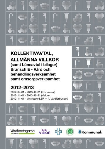 Kollektivavtal bransch E - Vårdförbundet