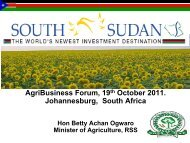 South Sudan AgriBusiness Forum presentation - Oakland Institute