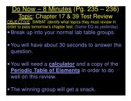 2014-05-20 - Chapter 17-39 Test Review-CW