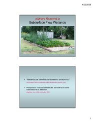 Nutrient Removal in Subsurface Flow Wetlands - Texas Onsite ...
