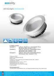 LED-Downlights | Einbauleuchte - ecobility GmbH
