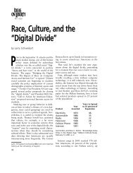 """Race, Culture, and the """"Digital Divide"""" - Foundation for Economic ..."""