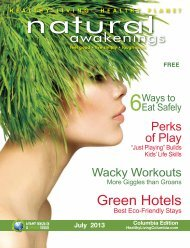 July 2013: Food Watch & Summer Living - Columbia Natural ...