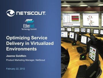 Optimizing Service Delivery in Virtualized Environments - Ethernet ...