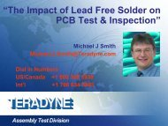 """""""The Impact of Lead Free Solder on PCB Test & Inspection"""" - Teradyne"""