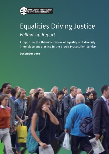 Equalities Driving Justice - HMCPSI