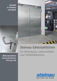 Steinau Edelstahltüren - Gebrüder Richter Metall