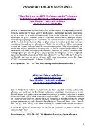 Téléchargez le programme - Science Action Haute-Normandie
