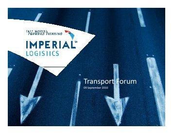 Transport Forum - IMPERIAL Logistics