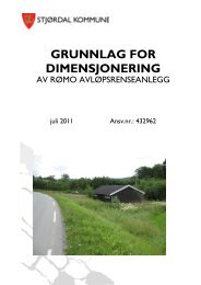 GRUNNLAG FOR DIMENSJONERING - Stjørdal kommune