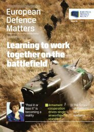 Learning to work togetheronthe battlefield - European Defence Agency