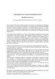 ANTIOXIDANTIA: WELKE SUPPLEMENTATIE? - Danone Institute