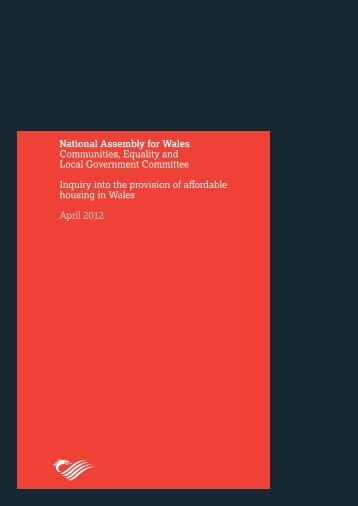 The provision of affordable housing in Wales Report April 2012