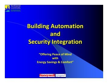 Building Automation and Security Integration - Yorkland Controls