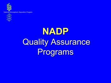 Quality Assurance Programs - National Atmospheric Deposition ...