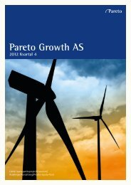 Pareto Growth AS - Pareto Project Finance