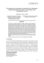 The Interactive Construction of Learning Foci in Simulation- Based ...