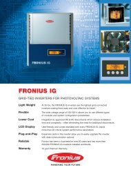 FRONIUS IG - Prevailing Wind Power