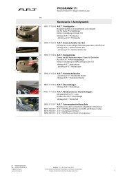PROGRAMM 171 Karosserie / Aerodynamik - ART tuning gmbh