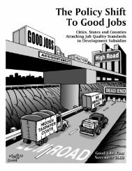 The Policy Shift to Good Jobs: Cities, States and ... - Good Jobs First