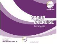 Group Exercise Timetable - Aura Leisure Centres