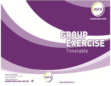 Group Exercise Timetable - Aura Leisure Centres