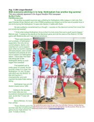 Little League Notttingham's all-for-one spirit leads to another big year