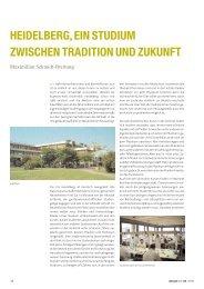 Heidelberg, ein Studium zwischen Tradition und ... - zahniportal.de