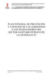 plan integral de prevención y atención de las agresiones a los ...