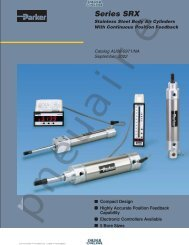 SRX Series Cylinders - Coast Pneumatics