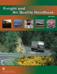 Air Quality Handbook - FHWA Operations - U.S. Department of ...