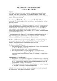 williamtown advisory group terms of reference