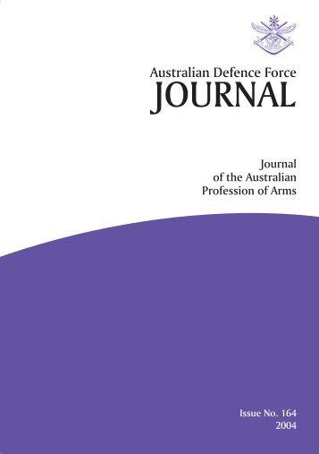 ISSUE 164 : Jul/Aug - 2004 - Australian Defence Force Journal