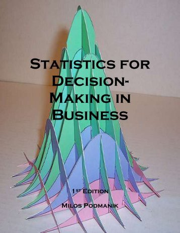 Statistics for Decision- Making in Business - Maricopa Community ...