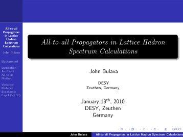 slides - Lattice Seminar - Desy